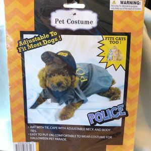 Halloween Police Pet Costume Fits Small Dogs Cats,